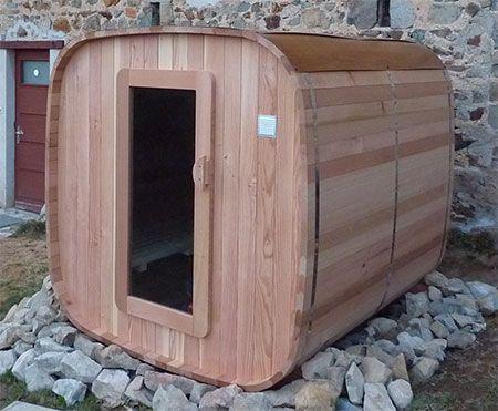 sauna bulle rond et sauna carr ext rieur hestia c t bois red cedar relaxation bien tre. Black Bedroom Furniture Sets. Home Design Ideas