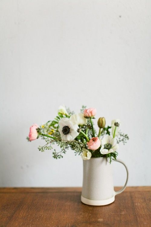 paper and clay bouquet