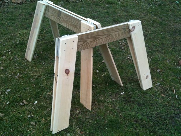 Diy Folding Sawhorse Plans Woodworking Projects Amp Plans