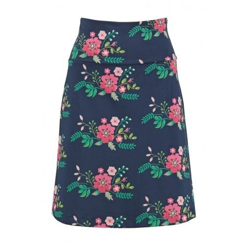 Tante Betsy Skirt Bouquet Blue floral print rok blauw bloemen print