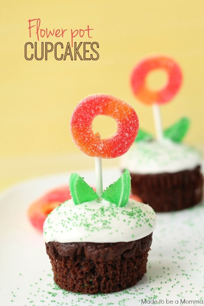 June 23, 2014 by Katie Wyllie, Made to be a Momma: Flower Pot Cupcakes