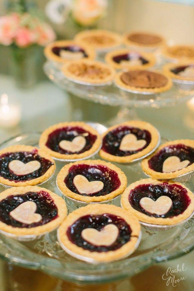 Precious mini pies for your guests sweet tooth! #cedarwoodweddings Summer Stunner Tennessee Wedding at Cedarwood | Cedarwood Weddings                                                                                                                                                                                 More