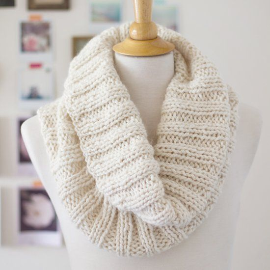A simple knitting pattern for a cozy ribbed scarf that works up quickly and makes a beautiful gift