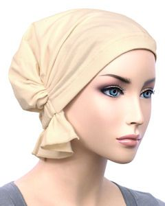 Abbey Cap 579-Ivory Cotton Knit - More Details