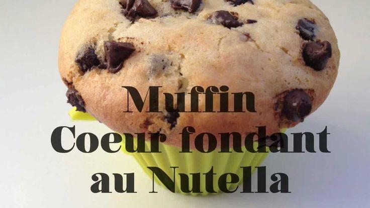 Recette facile : Muffin, coeur fondant au Nutella | FastGoodCuisine