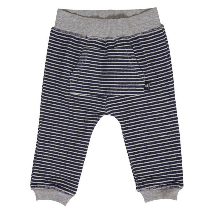 Marineblå sweat bukser med hvide striber fra Hust & Claire