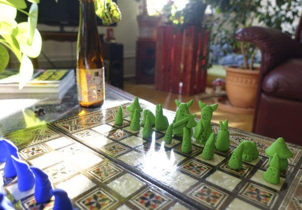 ▼▼▴▾▴▲▴▾▴▼▼ Zwergenschach  diy polimer clay dwarf chess figures