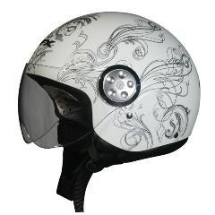 AFX Helmets - AFX FX 42 Pilot Helmet Flat White Vine