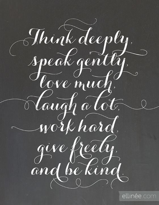 Free Printable Chalkboard Quote  {Ellinee}