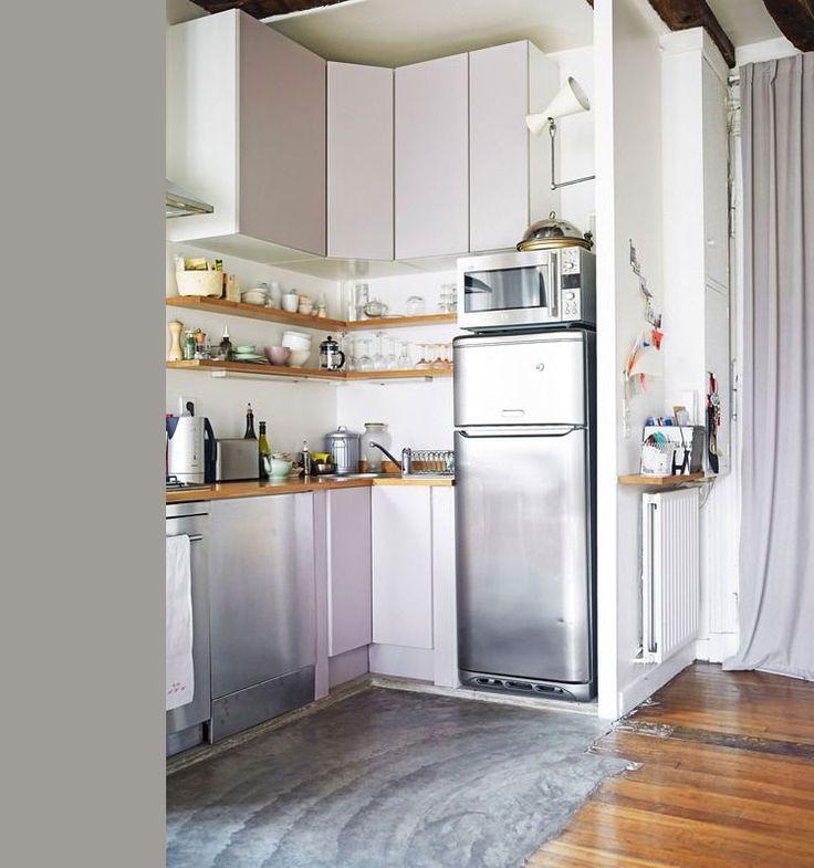 25 beste idee n over kleine keukens op pinterest kleine open keukens open planken en open - Keuken kleine ruimte ...