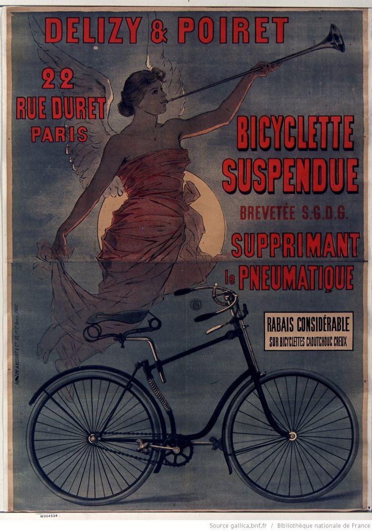 Delizy et Poiret bicyclette suspendue... : [affiche] / [non identifié] | Gallica
