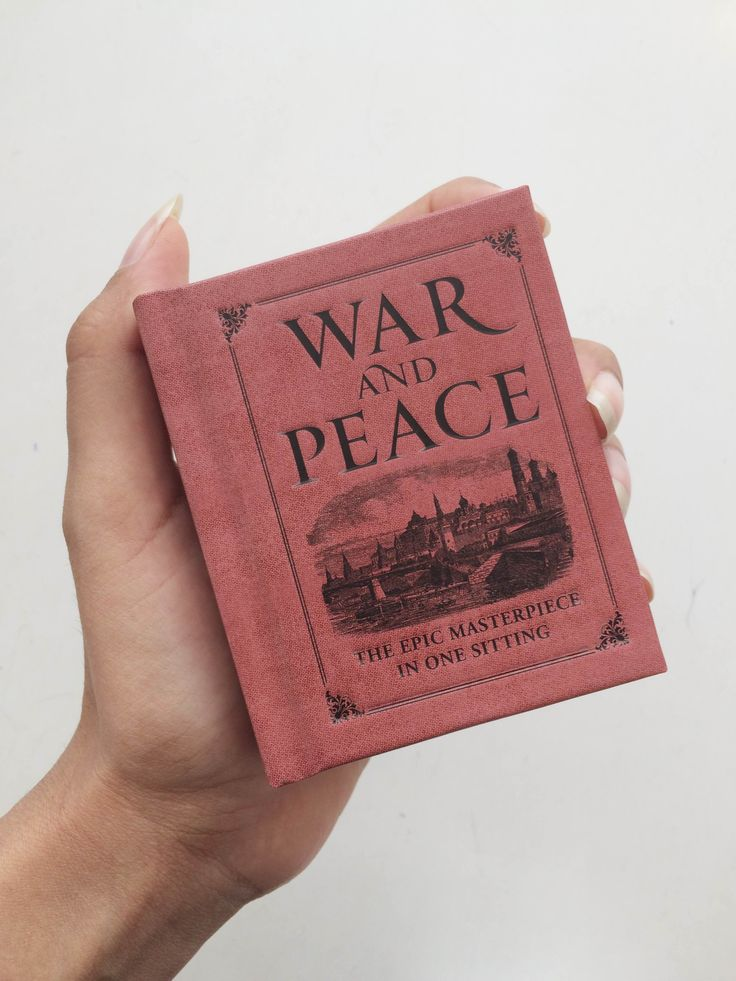 A pocket sized book // War and Peace // The epic masterpiece in one sitting