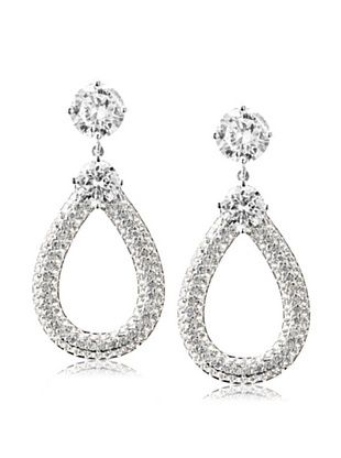 68% OFF CZ by Kenneth Jay Lane Stud with Pave Knocker Earrings