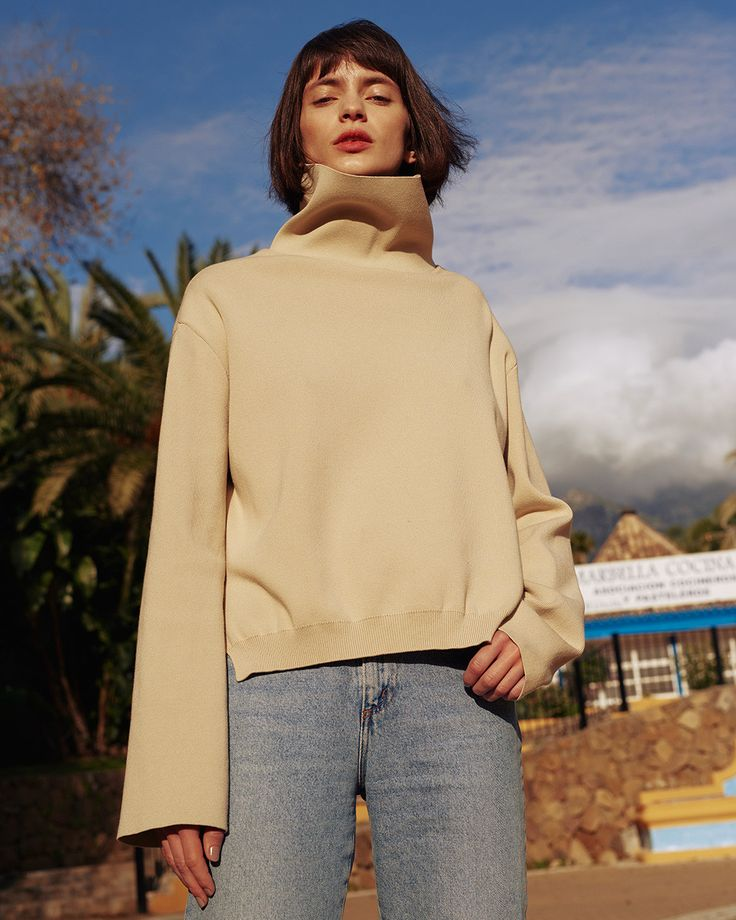 #Nahushka LUMIX Knit Sweater, Camel