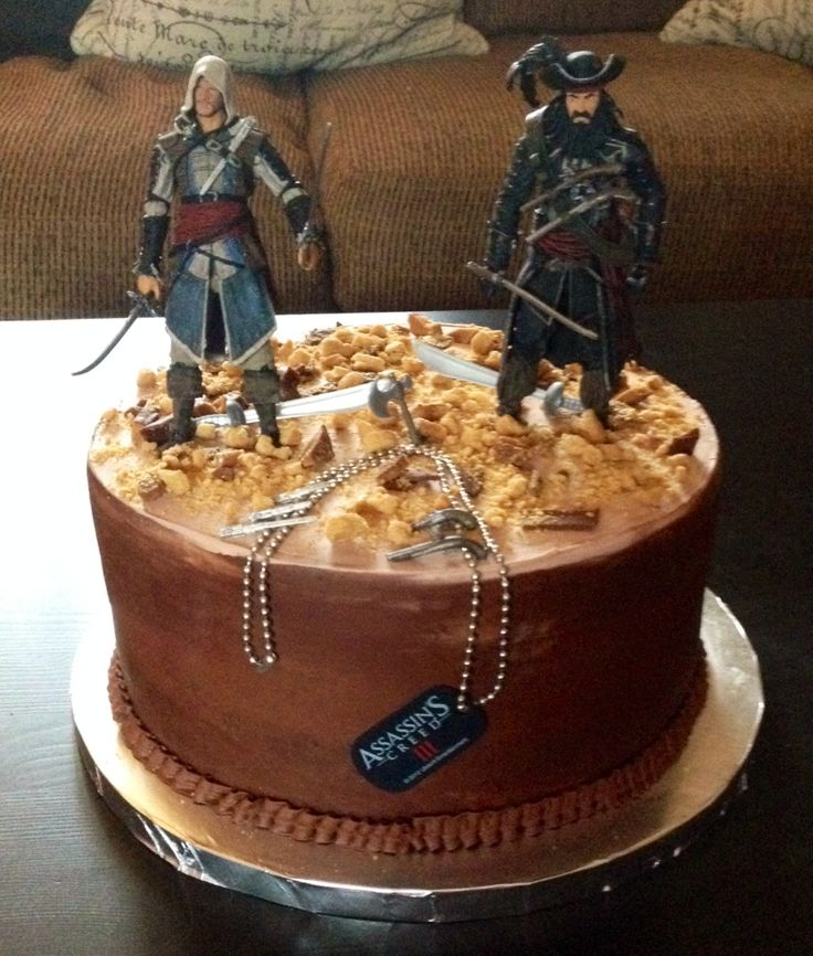 Assassins Creed Fondant Birthday Cake