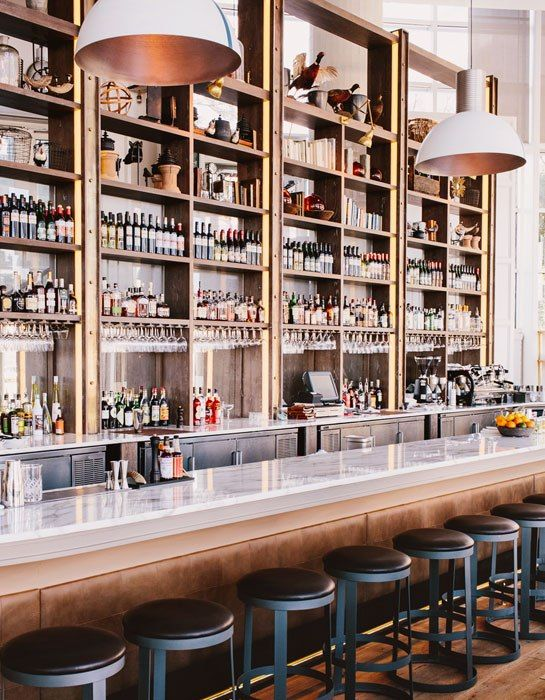 The New Restaurant St. Cecilia Brings the Italian Riviera to Atlanta {obsessed with those lights!}