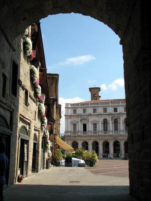 Piazza Vecchia, Bergamo, Italy