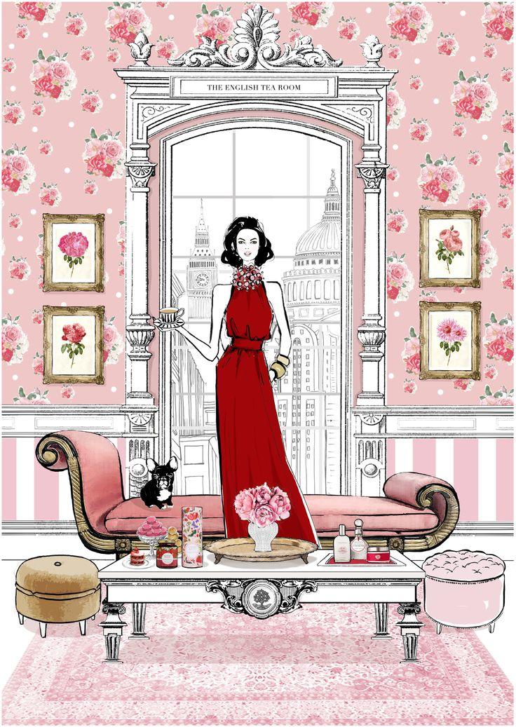 """Depois de ilustrar a capa do livro de """"Sex and the City"""", ela ganhou fama e começou a trabalhar com clientes como Chanel, Tiffany, Fendi, Dior, Hermès,..."""