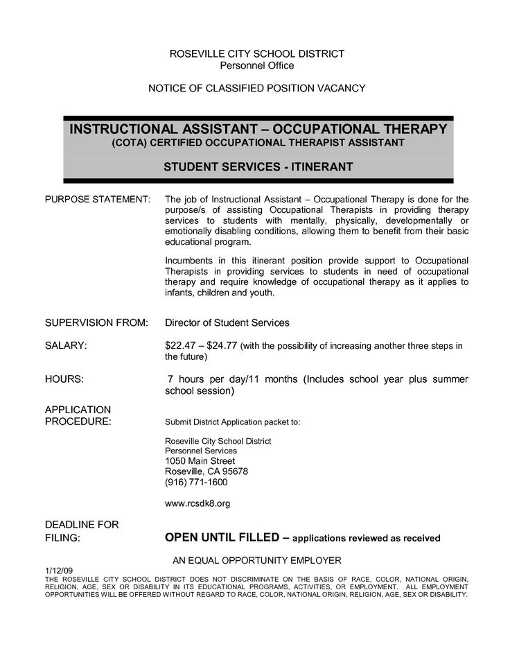 occupational therapy assistant resume samples therapist template great templates