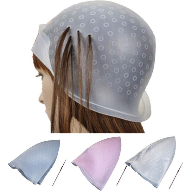#7 Professional Salon Reusable Hair Colouring Highlighting Dye Cap Hat Hook Frosting Tipping Dropship