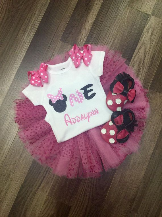 Minnie Mouse birthday outfit, Minnie Mouse first birthday outfit, Minnie Mouse second birthday outfit, 2 nd, 3 rd birthday