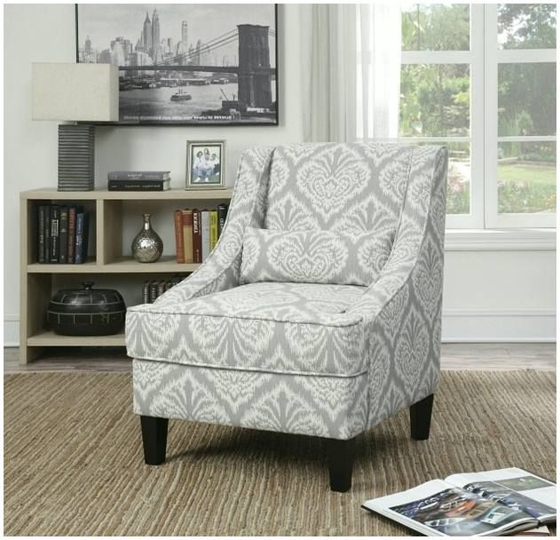Grey Patterned Accent Chair To An Incredible Room Arrangement! ,  Consideration To Add A
