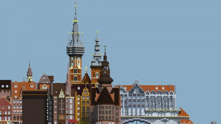 European Inspired City Minecraft Project