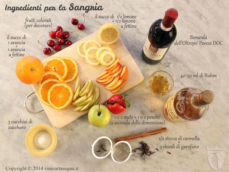 Come dosare gli ingredienti per la sangria. Prova la ricetta http://www.vinicartasegna.it/ricetta-sangria/
