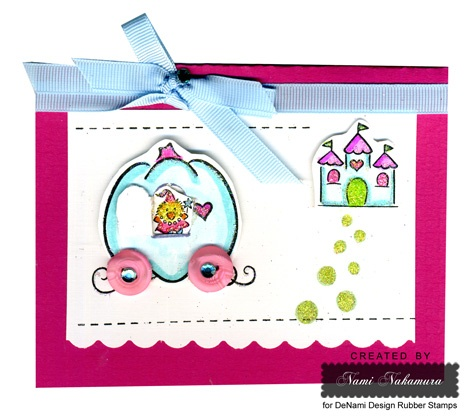 DeNami Princess Chickie Castle card