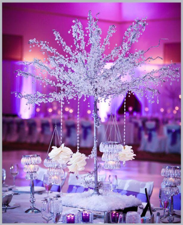 Wedding Decoration Ideas Purple Winter Wedding Dec Winter