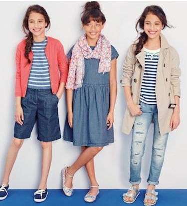 Kidz2000 model Jada R in the centre for Next Fashion