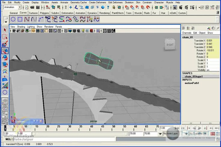 Cycle Chain Rig in Maya Part 01