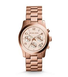 Eschew everyday extras and picture your updated accessories through rose-colored glasses. This ultra-feminine Runway watch is a fashion favorite and will be a precious timepiece for seasons to come. A sleek adornment—stack it up with mixed metallics for added glamour, or give your wrist an artful attitude with an ornate cuff.