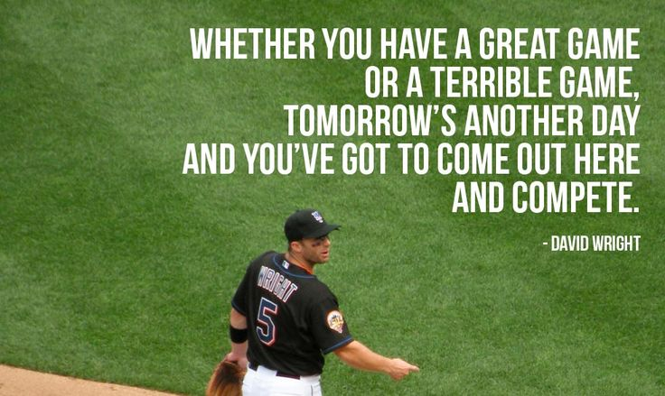 Whether you have a great game or a terrible game, tomorrow's another day and you've got to come out here and compete. - David Wright (photo credit: mattbritt00)