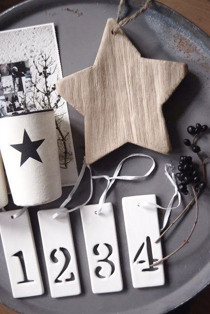targette calendario avvento con numero intagliato. Black Bedroom Furniture Sets. Home Design Ideas