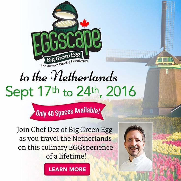 Travel with Chef Dez from Big Green Egg Canada to the Netherlands this September! #egghead4life #biggreenegg #biggreeneggnation #biggreeneggcanada #culinary #culinaryadventures #eggscape #travel #grouptravelexpert #destination #passportready #instago #traveladdict #chef #chefdez #chefdezoncooking by magicalfamilyadventures
