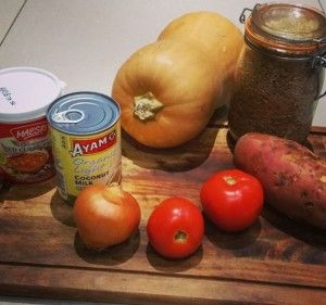 These are my go to ingredients for my vegan red curry.