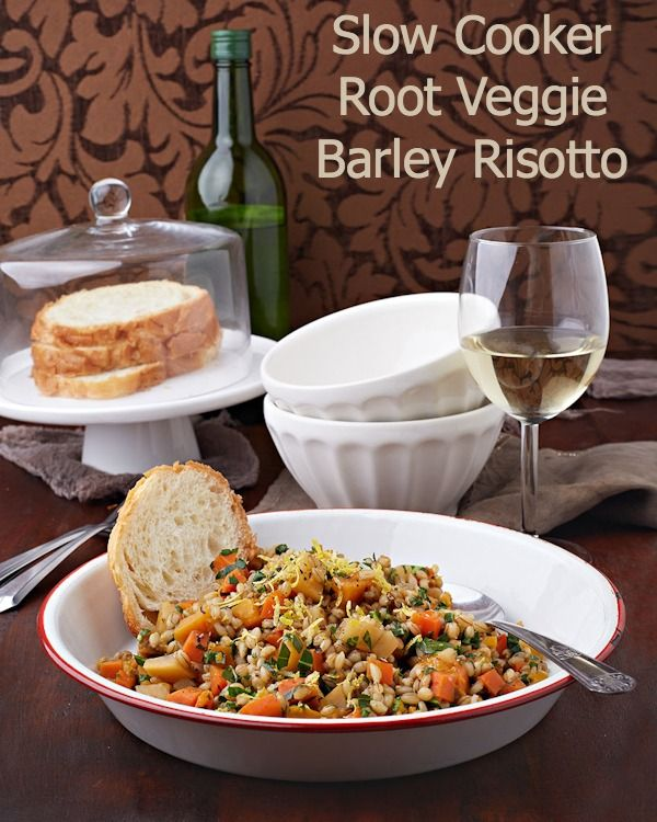 Root Veggie Barley Risotto from Vegan Slow Cooking for Two (Photo by Kate Lewis)