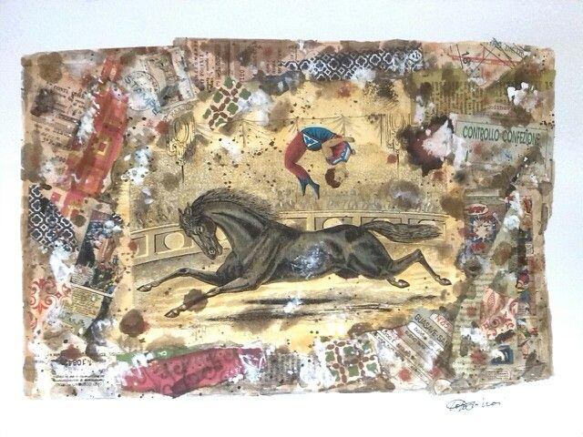 Il Grande Circo di Francia Collage/35x50/ Toto Dinoi