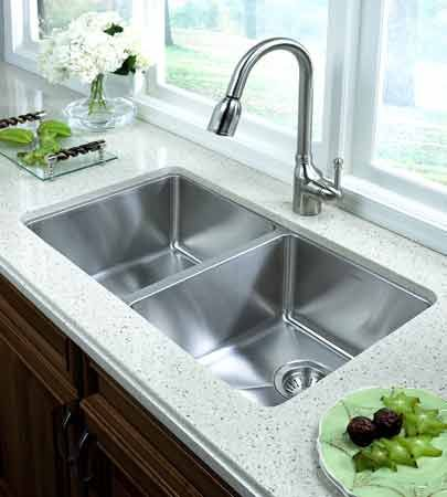 Stainless Steel Undermount Kitchen Sink Double Bowl - Google