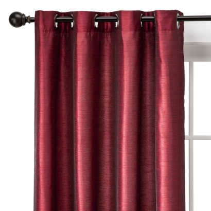 Threshold™ Banded Faux Silk Window Panel
