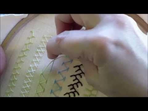 Puncte și cusături ornamentale - Punctul de tresă - YouTube