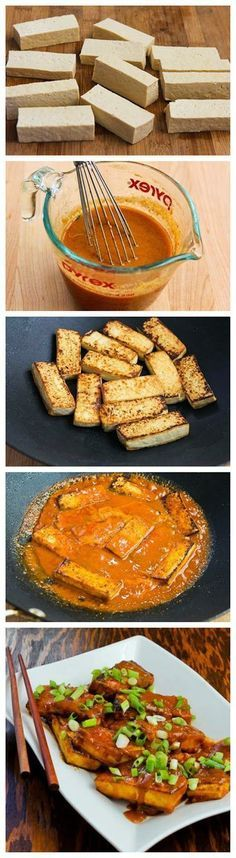 Recipe for Spicy Vegan Peanut Butter Tofu with Sriracha