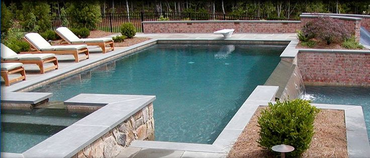 15 best backyard deck images on pinterest backyard ideas for Pool design for volleyball
