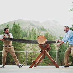 The happiest gay lumberjack wedding ever | Offbeat Bride