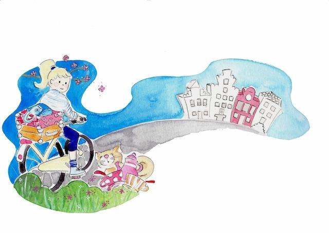 Illustratie door Debbi Verbakel Ik ga op reis..