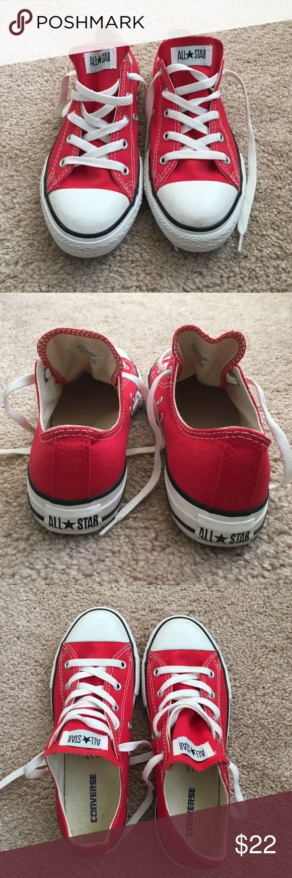 ❤️Red Converse Sneakers Red Converse Sneakers. Size 3. Lightly worn! Converse Shoes Sneakers