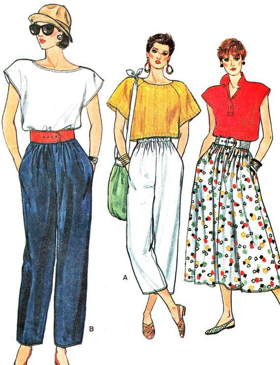1980s Very Easy Vogue 9303 Loose Straight Legged by paneenjerez, $9.00