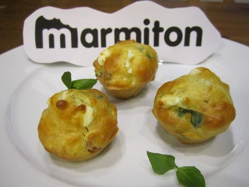 Muffins salés au basilic et féta (sans matière grasse)