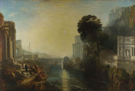 William Turner, DIDONE COSTRUISCE CARTAGINE, 1815, colore ad olio, National Gallery
